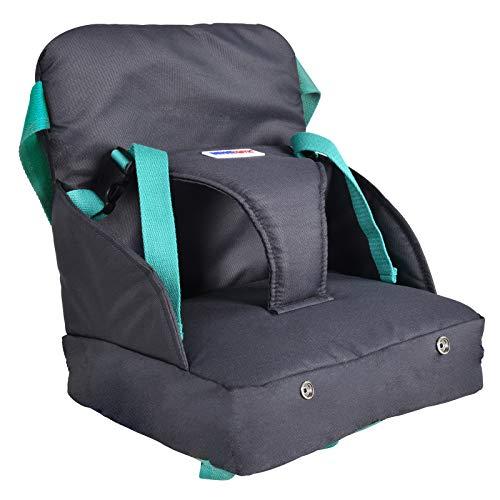 Infantastic Boostersitz fur Kleinkinder | Praktischen aufblasbarer kindersitz | Leicht in der Tasche verstaubar, einfach auf dem Stuhl montierbar | Reisesitz, Tragbar Sitzerhöhung mit Luftpolster