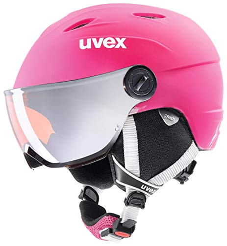 Uvex Mädchen Skihelm Junior Visor Pro Pink Mat, 54-56 cm