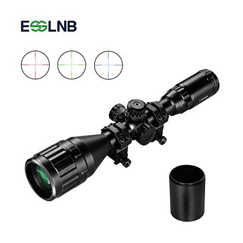 ESSLNB 3-9 x 50 Zielfernrohr Luftgewehr mit Sonnenschirm Mil Dot Rangefinder AOEG Red Dot Scope mit 20mm/22mm Montage für Jagd und Softair