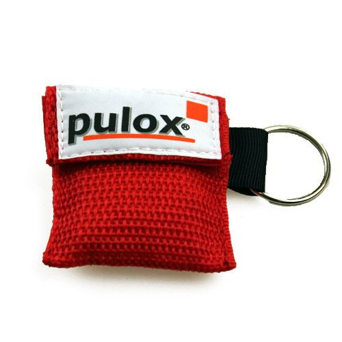 PULOX RESPI-Key Schlüsselanhänger Beatmungsmaske in rot