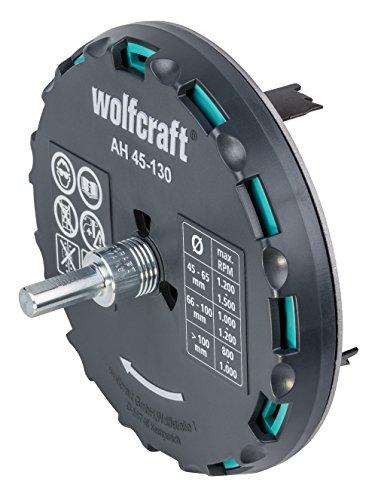 Wolfcraft Ah 45-130 - Lochsäge verstellbar, 1 Stück, 5978000