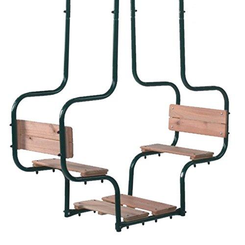 WICKEY Doppelschaukel Metall Cocoon Gondelschaukel Doppelsitzschaukel Zubehör, Metall, Sitzfläche Holz