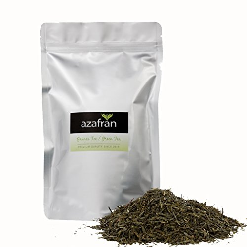 Grüner Tee - Japanischer BIO Sencha Grüntee - Original Uchiyama Sencha aus Japan (250g) von Azafran - ca. 100 Tassen Genuss