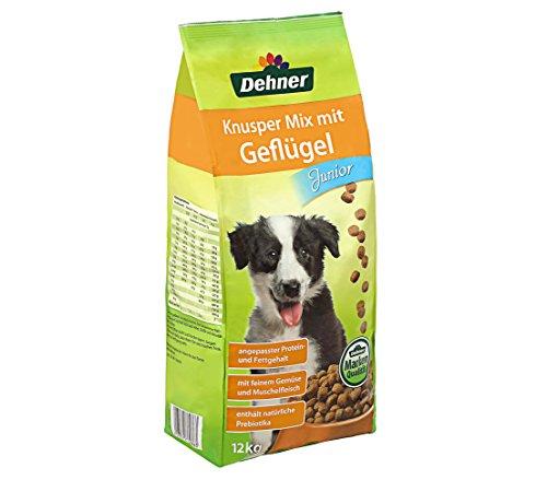 Dehner Hundefutter Junior, Knusper Mix mit Geflügel, 12 kg