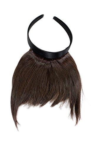 WIG ME UP  - HA071T-6 Clip-in Pony mit Haarreif und längeren Seitenhaar, besonders natürliche Wirkung, Braun (6)