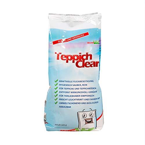 CARLAS TeppichClean 2X 500gr Reinigungspulver, kraftvoller und wirkungsvoller Teppichboden-Reiniger