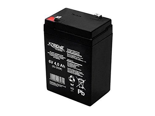 Xtreme Blei-Akku Gel Battery Lead Acid Battery Batterie Akku (6V 4Ah)