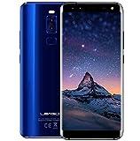 LEAGOO S8-5,72 Zoll (18: 9-Verhältnis) randlos Android 4G Ultra Slim Smartphone, Quad-Kameras, Octa Core 1,5 GHz 3 GB RAM 32 GB - Blau