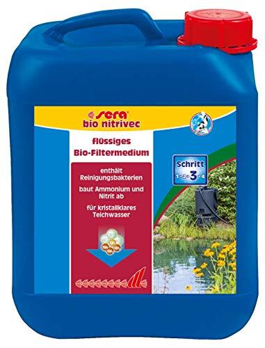 sera pond bio nitrivec biologischer Wasseraufbereiter für den Teich, das Flüssigfiltermedium baut durch die enthaltenen Reinigungsbakterien wirksam, schnell & auf natürliche Weise Ammonium & Nitrit ab