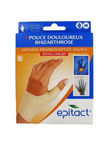 Epitact Supple Proprioceptive Orthosis Painful Thumb Right Hand - Size : Size M