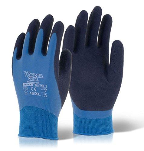 Blaue Latex-Handschuhe von Wonder Grip