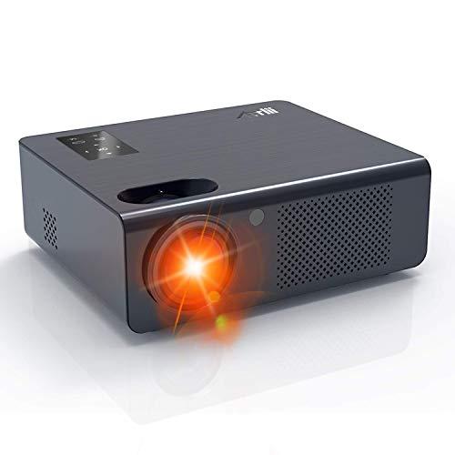 Beamer - Artlii Energon Heimkino Beamer mit Zoomfunktion HD Video Projektor 1080p Unterstützung Kompatibel mit TV-Stick, Chromecast, Smartphone, Laptops, PS4 Für Netflix Video/Film Unterhaltung Spiele