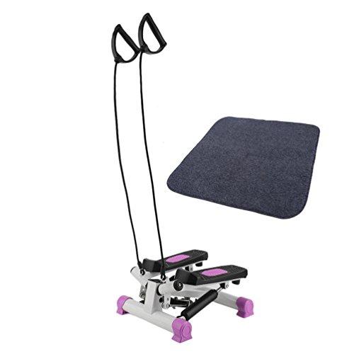 Homgrace Up-Down Stepper Heimtrainer Mini-Stepper Zuhause Fitness Aerobic Ausdauertraining Stepper mit LCD Trainingscomputer & Expander-Bänder & Matte