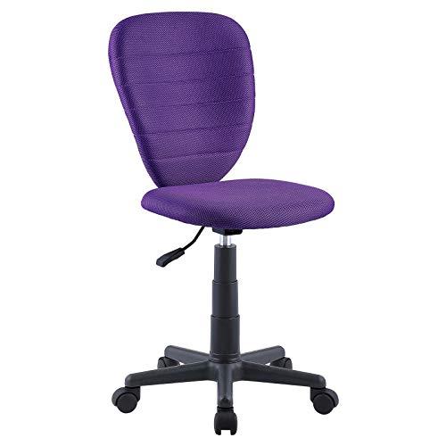 CARO-Möbel Kinderdrehstuhl Discovery Schreibtischstuhl Drehstuhl in lila, höhenverstellbar