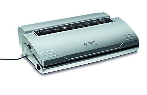 CASO VC300 Vakuumierer - Vakuumiergerät, Lebensmittel bleiben bis zu 8x länger frisch - natürliche Aufbewahrung ohne Konservierungsstoffe, doppelte 30cm lange Schweißnaht, regulierbare Vakuumstärke, inkl. Folienbox und Cutter, inkl. 2 Profi-Folienrollen & Schlauch für Vakuumbehälter