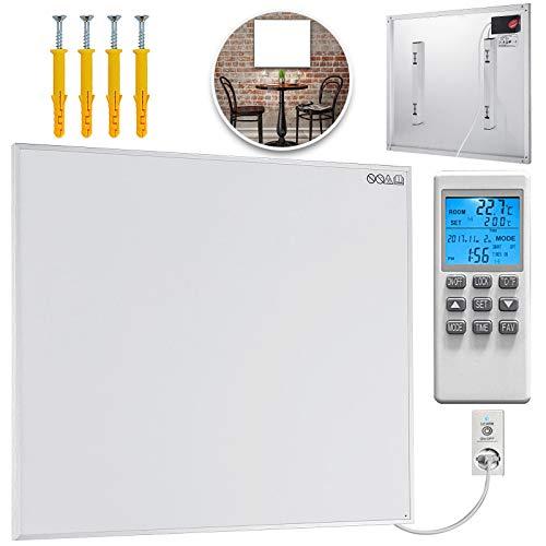 FlowerW 450W Infrarotheizung Heizpaneel Infrarot Heizkörper Raumheizung Thermostat(450W)