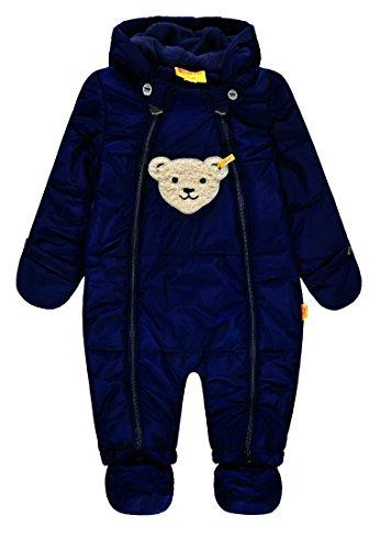 Steiff Baby-Jungen Schneeanzug Schneeoverall, Blau (Marine Blue 3032), 80