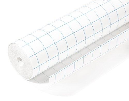 Herma 7005 Selbstklebende Buchschutzfolie (5m x 40cm, transparent farblos glänzend) 1 Rolle, Gitterlinien, bes. reißfest, umweltfreundl. Kunststoff