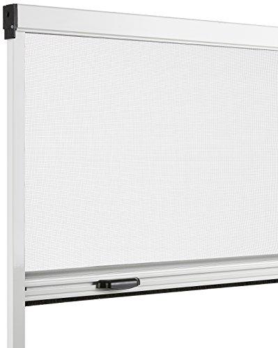 Schellenberg Insektenschutz Rollo Basic 130x160 cm weiß, Aluminium und Fiberglas, 155 x 8 x 4 cm