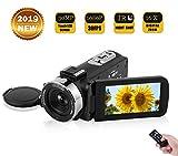 Videokamera Camcorder Vlogging Kamera Full HD 1080P 30FPS 30.0MP für YouTube Camcorder mit IR Nachtsicht Fernbedienung Digitalkamera mit 3,0 Zoll LCD Touchscreen