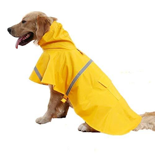 Tie langxian Haustier-Regenmantel,Hunderegenmantel, Sicherheitsjacke, Geeignet für Geeignet für Hunde (XL, Gelb)