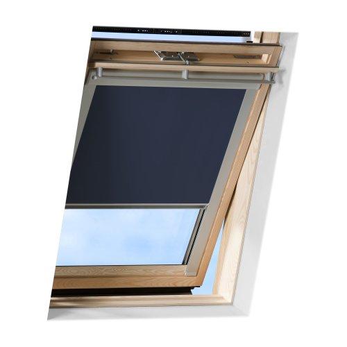 Victoria M. Dachfensterrollo passend für Velux Dachfenster/verdunkelndes Rollo/GGU C04, dunkelblau