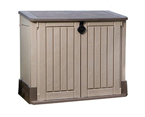 Keter 211166 Mülltonnenbox Store it Out Midi, beige, 845 L