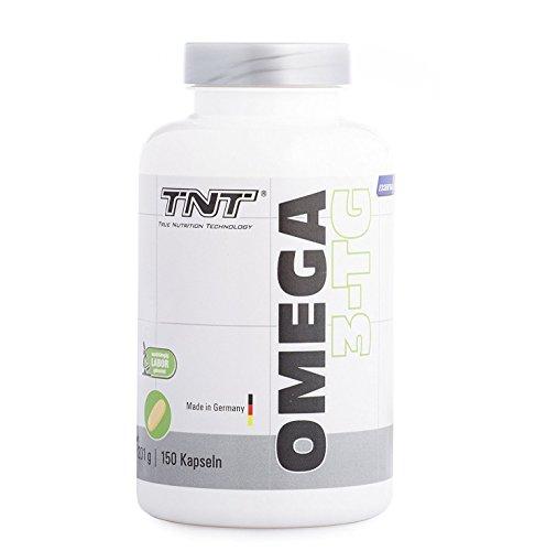 Premium Omega 3 Kapseln hochdosiert | gesunde Fisch-Öl Kapseln aus essentiellen Fettsäuren und Lebertran | Gut verträglich und reich an EPA & DHA | Immunsystem stärken mit TNT Omega 3-TG / 150 Caps