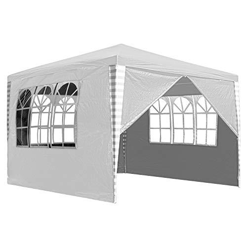 Hengda Gartenpavillon 3 x 3 m Pavillons mit 4 Seitenteile Partyzelt weiß für Festival oder Feier Gartenzelt