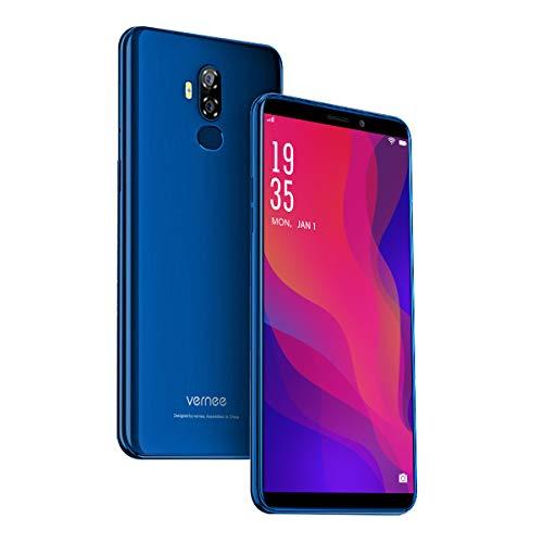 Vernee X2(2019) Dual SIM Smartphone Ohne Vertrag, Android 9.0 4G Handy, 6350 mAh große Akku, 3GB RAM 32GB ROM, 13MP+5MP Haupt/5MP Frontkameras, 6 Zoll 18: 9 HD-Display, Fingerabdruck, GPS(blau)