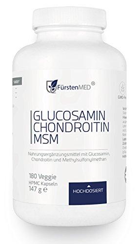 FürstenMED Glucosamin + Chondroitin + MSM Kapseln - Hochdosierte Gelenkkapseln ohne Zusatzstoffe aus Deutschland