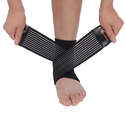 CAMBIVO 2 x Knöchelbandage, Sprunggelenk Bandage mit Klettverschluss, Kompression-Fußbandage für Plantarfasziitis, Achillessehnen, Fersensporn für Damen und Herren
