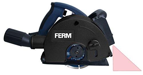 FERM WSM1009 Mauernutfräse Schlitzfräse 1700W - 2 Diamantscheiben 125mm - Laserfürhrung - Staubabsaugungsadapter - Koffer