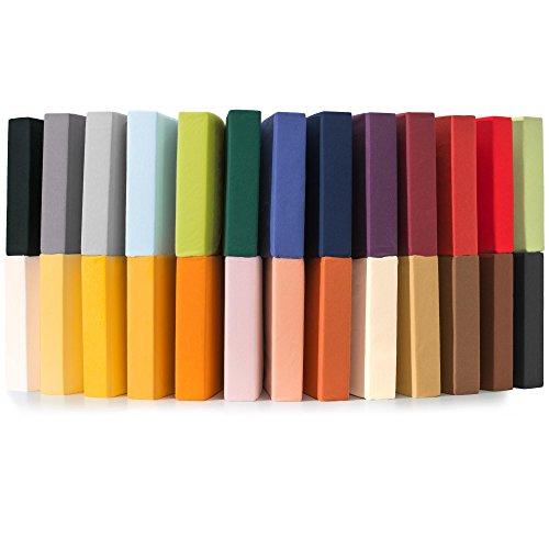 CelinaTex Jersey Spannbettlaken 180x200-200x220 cm für Boxspringbetten, Wasserbetten und herkömmliche Matratzen, Spannbetttuch 100% Mako-Baumwolle Qualität Relax 0001948 Weiß