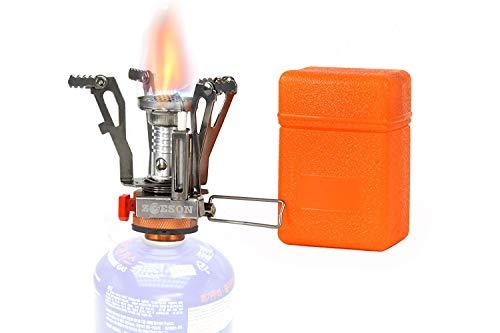 zoeson Ultralight Portable Outdoor Backpacking Campingkocher mit Piezo-Zündung