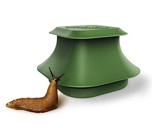 SnailX Schneckenfalle Set - Falle und Lockmittel | Saubere Schneckenbekämpfung | Schneckenschutz für Garten, Haus und Hochbeet (80% Weniger Schneckenkorn nötig)