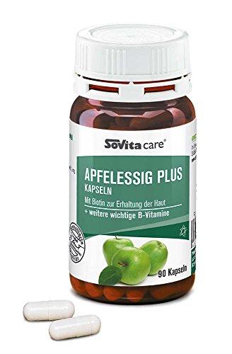 Apfelessig plus Kapseln   mit Biotin und Folsäure   ascopharm   90 Kapseln