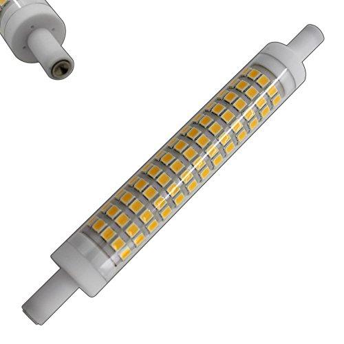 R7s LED 10 rund Watt warmweiß 118mm (sehr kleiner Durchmesser) Leuchtmittel Lampe Halogen j118 Fluter Brenner Scheinwerfer Flutlicht