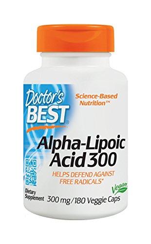 Doctor's Best, Best Alpha-Lipoic Acid (Alpha-Liponsäure), 300mg, 180 Veg. Kapseln