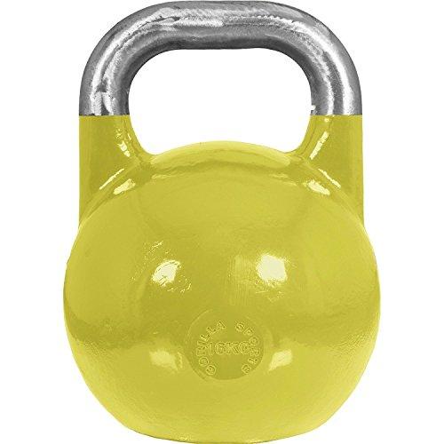 GORILLA SPORTS Kettlebell Competition 16 kg Stahl Gelb – Wettkampf Kugelhantel