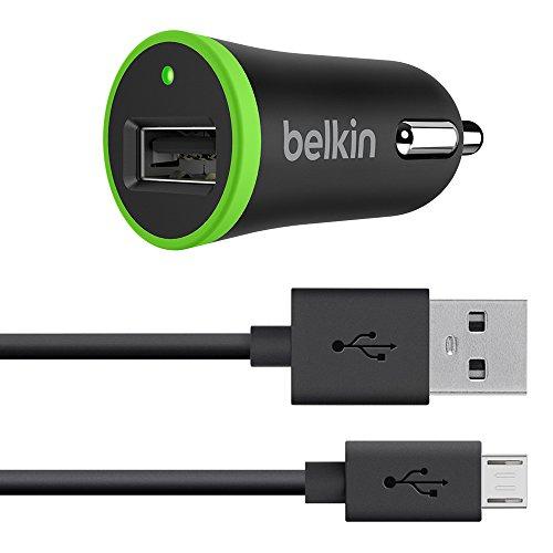 Belkin Universal KfZ-Ladegerät mit Micro-USB-Sync-/Ladekabel (10 Watt/2.1 A), schwarz