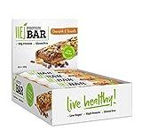 HEJ Protein Bar - Eiweiß-Riegel ohne Zuckerzusatz - Protein-Riegel Low Carb - Fitness Riegel Protein - Geschmack Chocolate & Peanuts - 12er Pack (12 x 60g)
