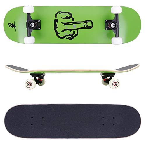 FunTomia Skateboard mit ABEC-11 Kugellager Rollenhärte 100A und 100% 7-lagigem kanadisches Ahornholz (Finger)
