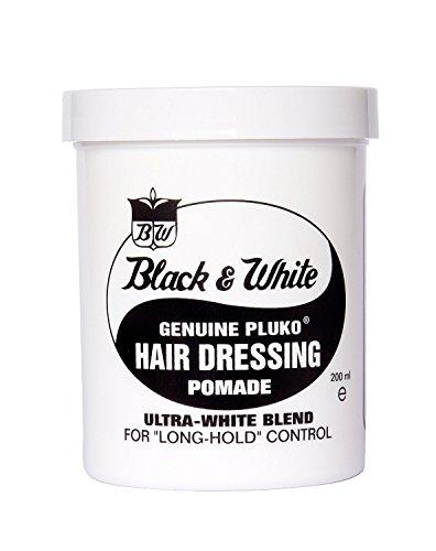 Pluko Black & White Genuine Pluko Hair Dressing Pomade 200ml