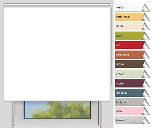 EFIXS Thermorollo Medium - 25 mm Welle - Farbe: weiss - Größe: 220x190 cm (Stoffbreite x Höhe) - Hitzeschutzrollo - Verdunklungsrollo - weitere Standard-Größen im Angebot wählbar