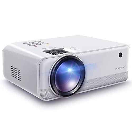 Beamer, Apeman Mini Beamer Tragbarer 1280 * 720 Pixels 4500 Lumen unterstützt Full HD unterstützt 1080P Multimedia LED 50000 Stunden für Heimkino Fußball Spiel Spaß am Erkunden (Mehrweg)