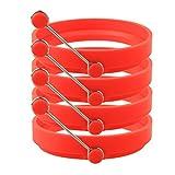Sicai Eierringe, 4Stück, antihaftbeschichtetes Silikon für runde Spiegeleier rot