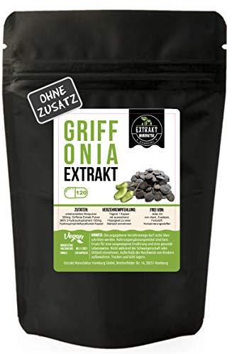 Griffonia Simplicifolia 98% 5-HTP Extrakt 120 KAPSELN 100mg ohne chem. Zusätze