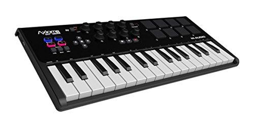 M-Audio Axiom AIR Mini 32 Kompakter MIDI USB Keyboard, VIP.30, Pad Controller, Ignite, Ableton Live Lite Inkl.