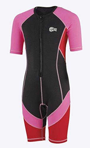 Beco Mädchen Sealife Kinder Schwimmanzug, Neoprenanzug, Shorty mit UV Schutz, pink, 152